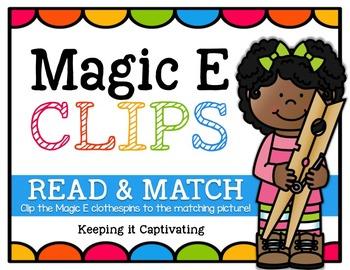 Magic E Clips {Read & Match}