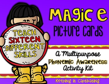 Magic E Picture Cards {A Multipurpose Phonemic Awareness A