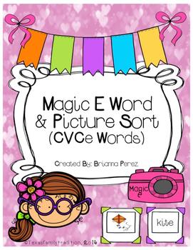 Magic E Picture & Word Sort