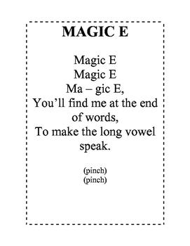 Magic E Poem