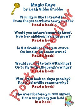 "Magic Keys Poem (16""x20"") Printable Poster"