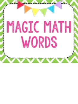 Magic Math Words Posters