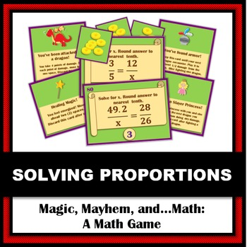 Magic, Mayhem, and...Math! : Solving Proportions (A Math A