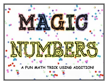 Addition Game - Magic Numbers - Addition Math Trick