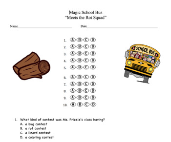Magic School Bus Meets The Rot Squad Questions - A story a