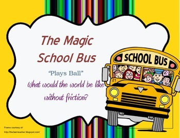 """Magic School Bus """"Plays Ball"""" Questions (Four Worksheets t"""