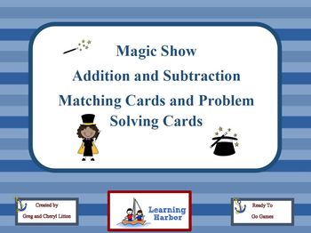 Magic Show Addition and Subtraction Matching Cards and Pro