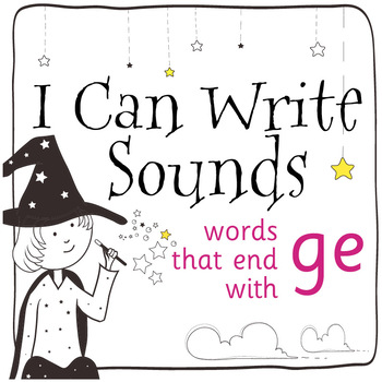 Magic Sounds Phonics: Set 71: words that end with ge (as in cage)