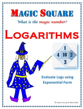 Magic Square - Evaluating Logarithmic Functions (Advanced
