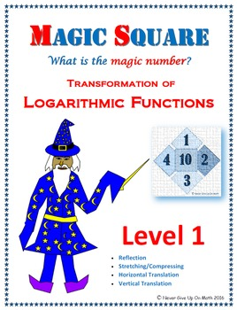 Magic Square - Transformation of Logarithmic Functions (Level 1)