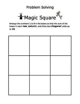 Magic Squares Math Game