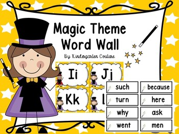 Magic Theme Word Wall Letters And 200 Fry Words & Editable Page