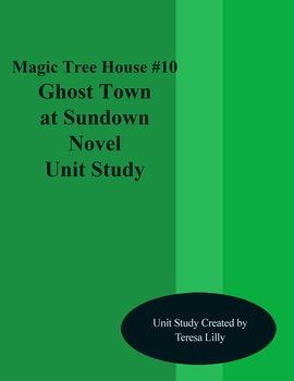 Magic Tree House #10 Ghost Town at Sundown Novel Literatur