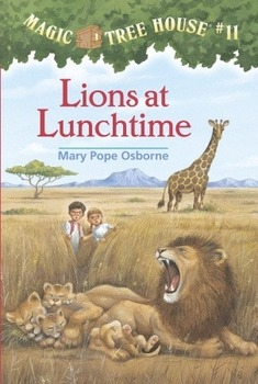 Magic Tree House #11 Lions at Lunchtime Powerpoint (Vocab/