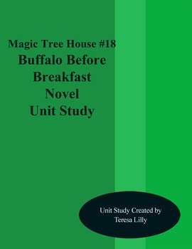 Magic Tree House #18 Buffalo Before Breakfast Novel Litera