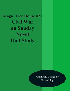 Magic Tree House #21 Civil War on Sunday Novel Literature