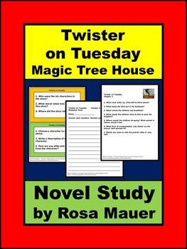 Magic Tree House #23: Twister on Tuesday Book Unit