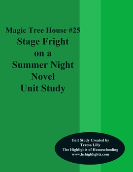 Magic Tree House #25 Stage Fright On A Summer Night Novel
