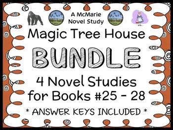 Magic Tree House BUNDLE - 4 Novel Studies : Books #25 thro
