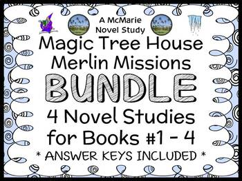 Magic Tree House BUNDLE - 4 Novel Studies : Books #29 thro