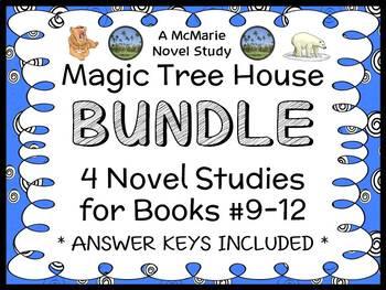 Magic Tree House BUNDLE - 4 Novel Studies : Books #9 throu