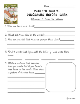 Magic Tree House Book 1 Dinosaurs Before Dark Independent