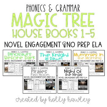 Magic Tree House Books 1-5 BUNDLE NO PREP (ELA)