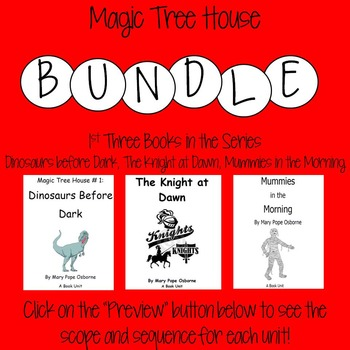 Magic Tree House Bundle-1st Three Books