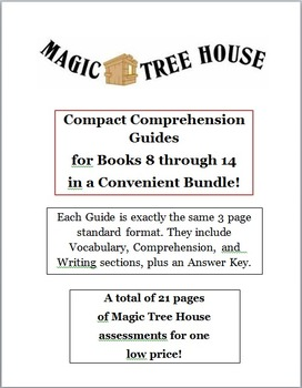Magic Tree House Bundle -- CCGs for Books 8 to 14