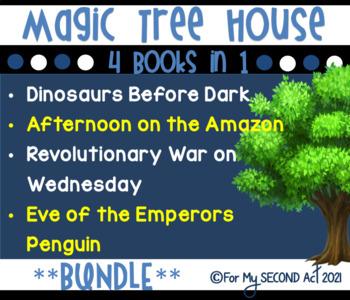 Magic Tree House Bundle: Dinosaurs, Penguins, Amazon, & Re