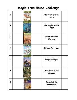 Magic Tree House Challenge List