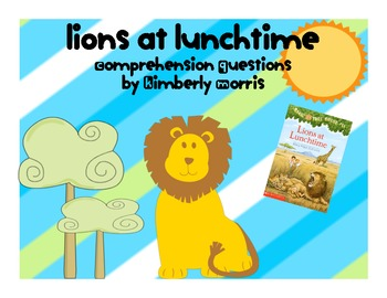 Magic Tree House Lions at Lunchtime Comprehension Book Plan