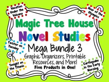 Magic Tree House Novel Studies Mega Bundle 3