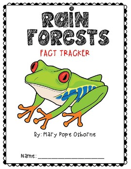 Magic Tree House Rain Forests Fact Tracker Packet