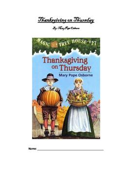 Magic Tree House: Thanksgiving on Thursday - Student workbook