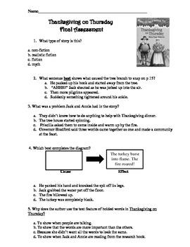 Magic Tree HouseThanksgiving on Thursday Final Assessment