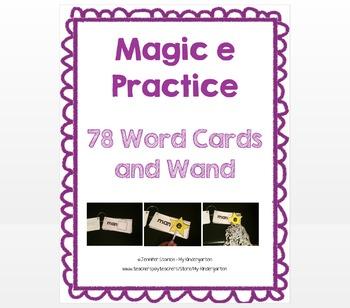 Magic e Practice cards