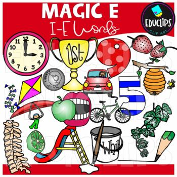 'Magic e' i_e Words Clip Art Bundle