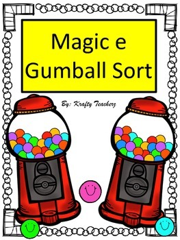 Magic e words Gumball Sort game
