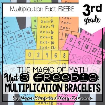 3rd Grade Magic Of Math FREEBIE:  Multiplication Bracelets