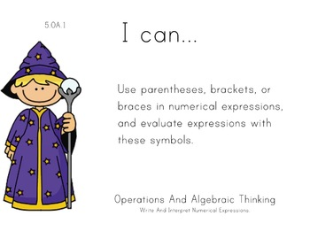 Magician Theme 5th grade math Common Core Posters Fifth Gr