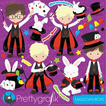 Magician boys clipart commercial use, vector graphics, dig