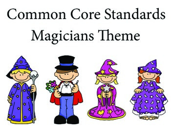 Magicians 2nd grade English Common core standards posters