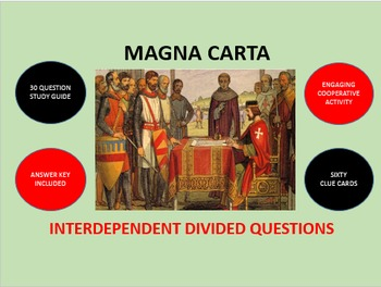 Magna Carta: Interdependent Divided Questions Activity