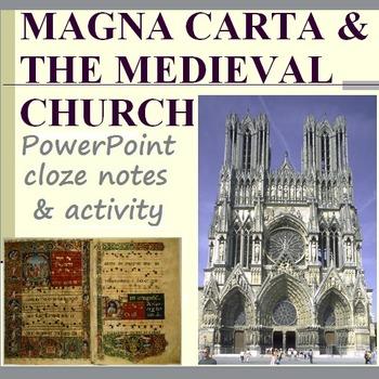 MAGNA CARTA & THE CHURCH: activity, powerpoint, & cloze no