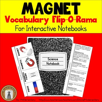 Magnets Vocabulary Interactive Notebook