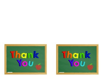 Magnet Letter Thank You Cards