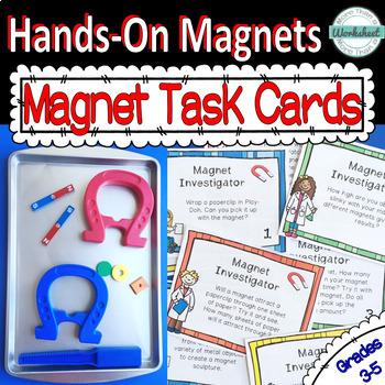 Magnet Task Cards: 36 Hands-on Magnet Investigation Tasks