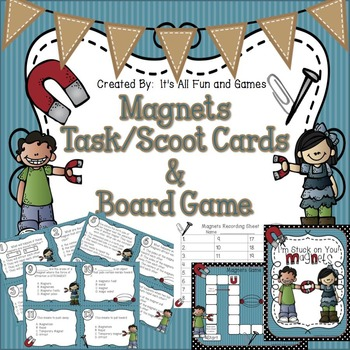 Magnet Task / Scoot Cards & Game board