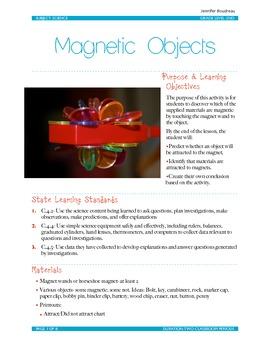 Magnet lesson plan